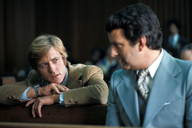 robert redford as washington post reporter bob woodward in all the president's men