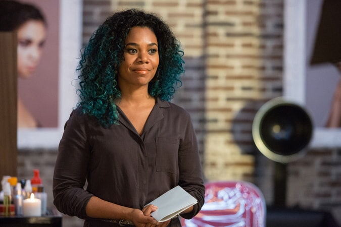 REGINA HALL as Angie in Barbershop: The Next Cut