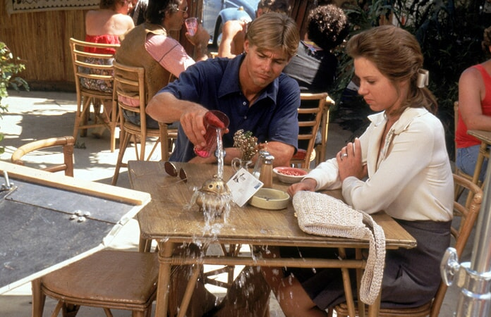 jan-michael vincent and lee purcell in big wednesday