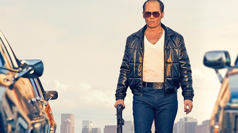 "JOHNNY DEPP as Whitey Bulger in the drama ""BLACK MASS."""