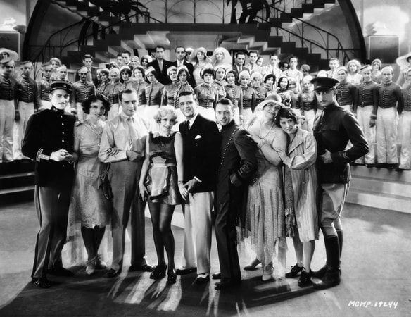 Daphne Wayne, Jack Benny as Eddie Rock, Bessie Love as Carlie Semour, Charles King as Terry Fay, George K. Arthur as Lester, Marie Dressler as Bonnie with hat, Polly Moran as Polly and Youcca Troubetzkov as Lanning.