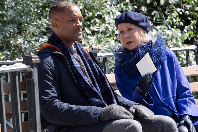 "WILL SMITH as Howard and HELEN MIRREN as Brigitte in New Line Cinemas', Village Roadshow Pictures' and Warner Bros. Pictures' ensemble drama ""COLLATERAL BEAUTY"""