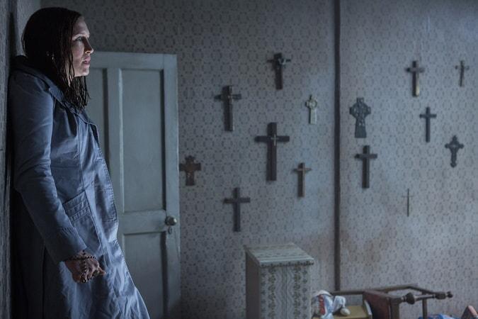 "VERA FARMIGA as Lorraine Warren in New Line Cinema's supernatural thriller ""THE CONJURING 2,"" a Warner Bros. Pictures release."