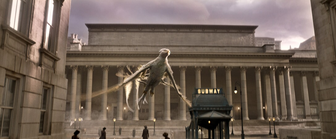 "A beast called a Thunderbird in a scene from Warner Bros. Pictures' fantasy adventure ""FANTASTIC BEASTS AND WHERE TO FIND THEM,"" a Warner Bros. Pictures release."