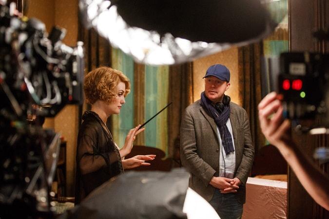 Alison Sudol and director David Yates
