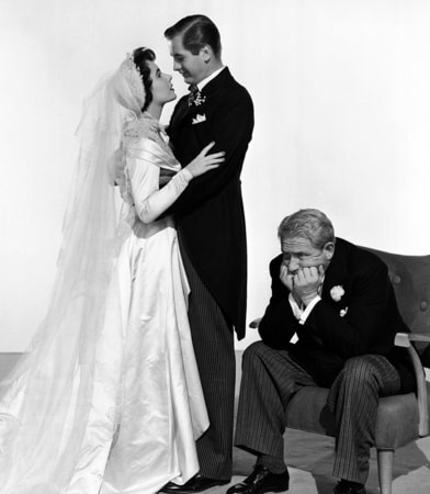 elizabeth taylor, don taylor, spencer tracy in father of the bride