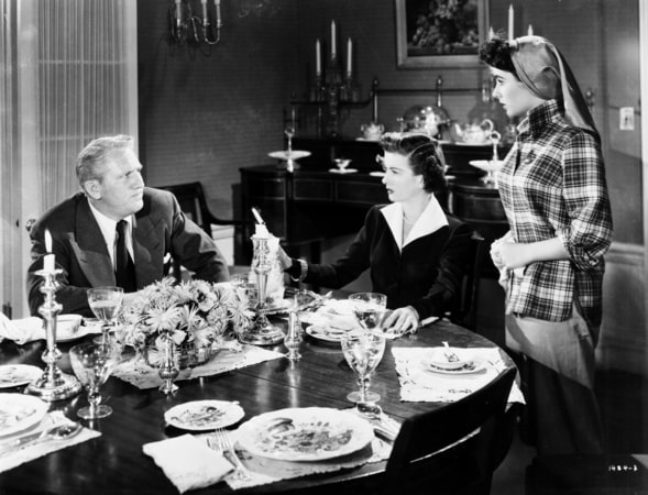 spencer tracy, joan bennett and elizabeth taylor in father of the bride