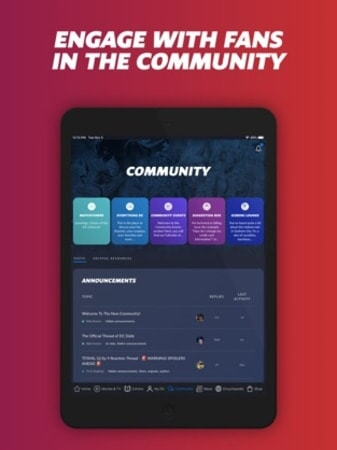Engage with fans in the community