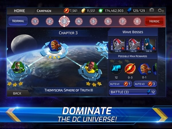 Dominate the DC universe!