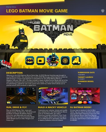 LEGO Batman game description
