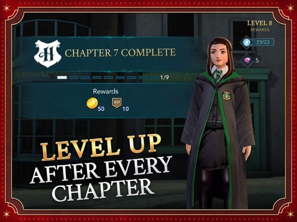 Level up after every chapter