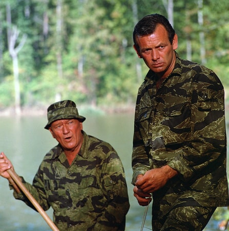 john wayne and david janssen in the green berets on bluray, dvd and digital