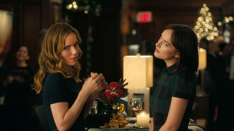 "LESLIE MANN as Meg and DAKOTA JOHNSON as Alice in New Line Cinema's, Metro-Goldwyn-Mayer Pictures' and Flower Films' comedy ""HOW TO BE SINGLE,"" a Warner Bros. Pictures release."