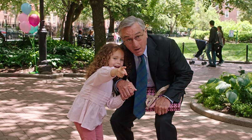 "JOJO KUSHNER as Paige and ROBERT DE NIRO as Ben Whittaker in Warner Bros. Pictures' comedy ""THE INTERN."""