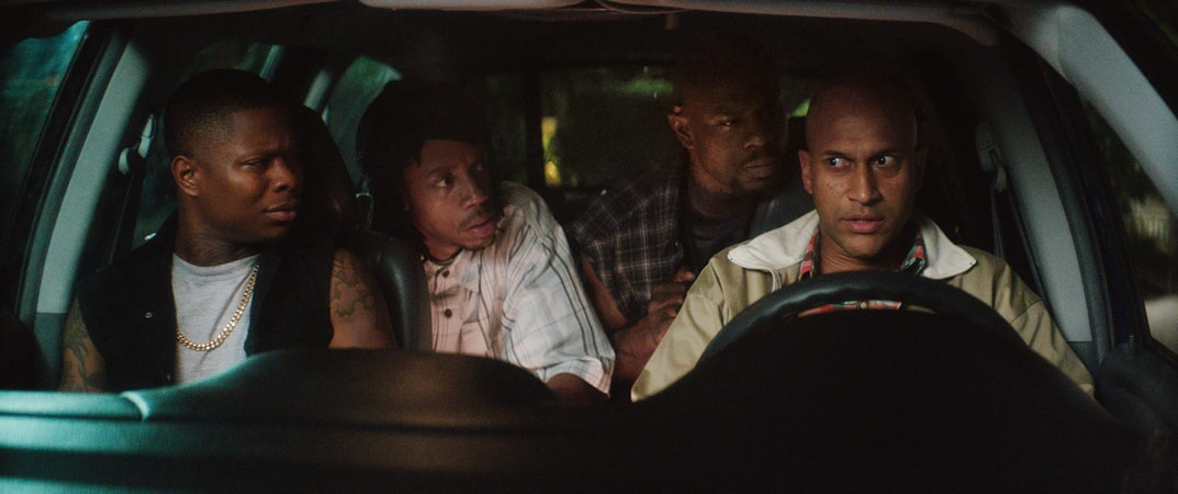 JASON MITCHELL as Bud, DARRELL BRITT-GIBSON as Trunk, JAMAR MALACHI NEIGHBORS as Stitches and KEEGAN-MICHAEL KEY as Clarence Goobril