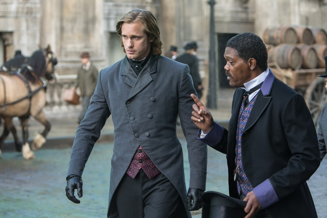 ALEXANDER SKARSGÅRD as Tarzan and SAMUEL L. JACKSON as George Washington Williams