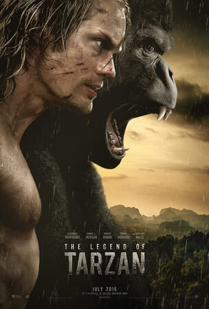 Legend of Tarzan - Tarzan and Ape with mountains in distance