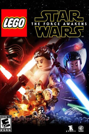 LEGO Star Wars The Force Awakens: Darth Vader, Ray, Finn with light sabers