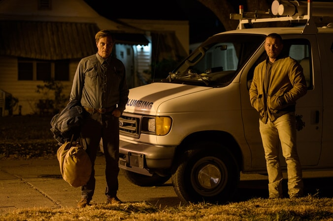 "MICHAEL SHANNON as Roy and JOEL EDGERTON as Lucas in director Jeff Nichols' sci-fi thriller ""MIDNIGHT SPECIAL,"""