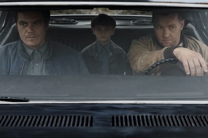 "MICHAEL SHANNON as Roy, JAEDEN LIEBERHER as Alton and JOEL EDGERTON as Lucas in director Jeff Nichols' sci-fi thriller ""MIDNIGHT SPECIAL,"""