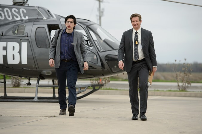 "ADAM DRIVER as Sevier and PAUL SPARKS as Agent Miller in director Jeff Nichols' sci-fi thriller ""MIDNIGHT SPECIAL,"""