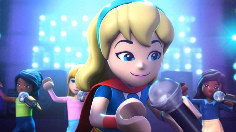 super girl sings in Lego DC Super Hero Girls: Brain Drain
