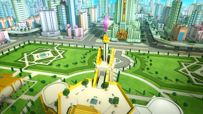 overlooking the city in Lego DC Super Hero Girls: Brain Drain