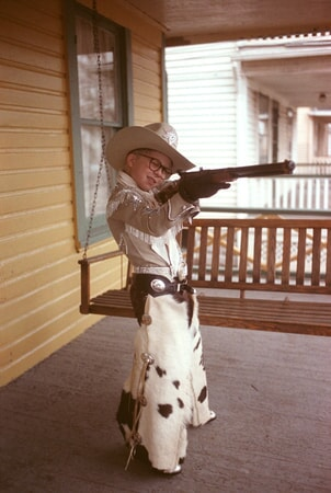 Ralphie in fantasy sequence as a cowboy