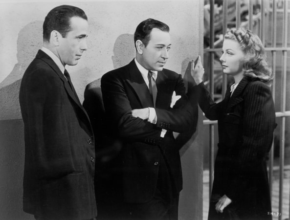 humphrey bogart, george raft and ann sheridan in they drive by night
