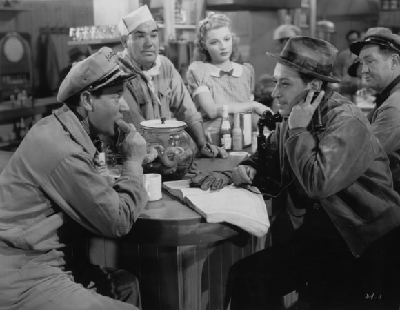 george raft and ann sheridan in they drive by night