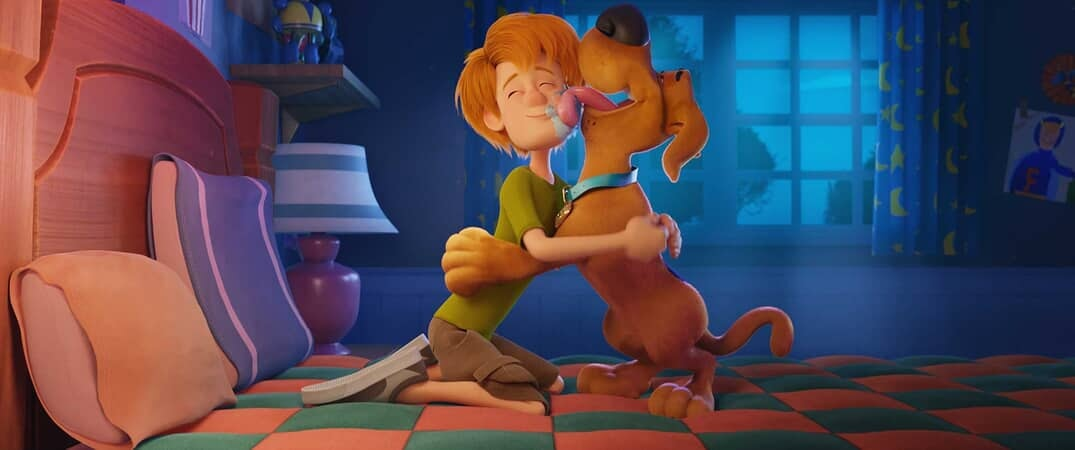 "(L-r) Young Shaggy and young Scooby-Doo in the new animated adventure ""SCOOB!"""