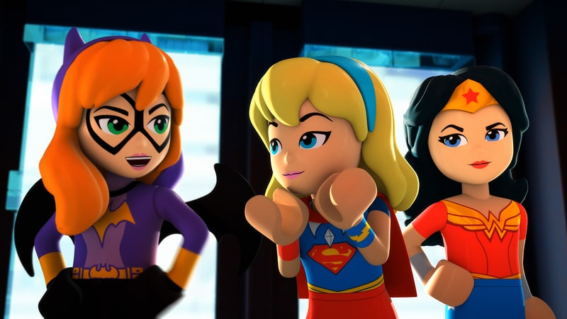 bat girl, super girl and wonder woman in Lego DC Super Hero Girls: Brain Drain