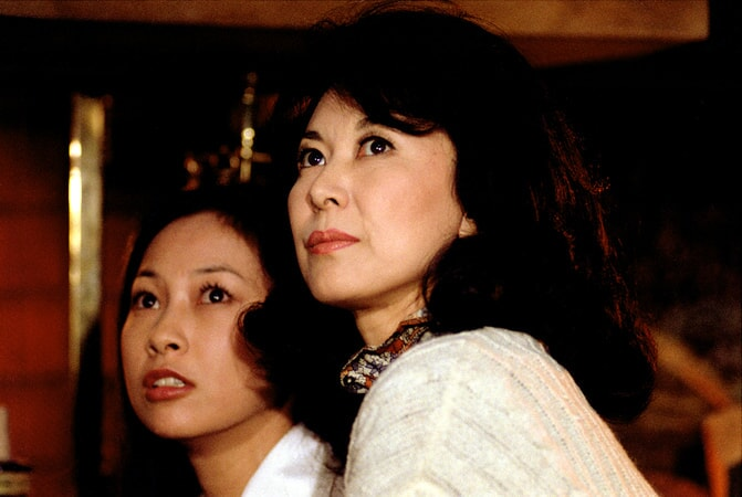 Christina Kokubo as Hanako and Keiko Kishi as Eiko in the yakuza