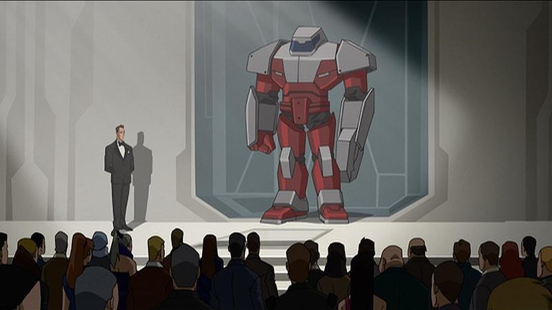 the giant robots in batman unlimted: mechs vs mutants
