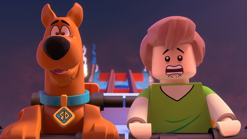 scooby and shaggy pictured in LEGO Scooby-Doo: Blowout Beach Bash
