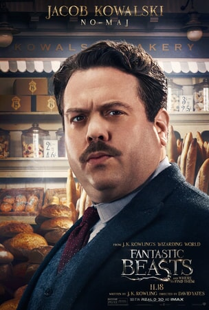Fantastic Beasts and Where to Find Them character poster: Jacob Kowalski