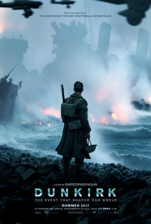 Dunkirk: Soldier in profile with battle in background