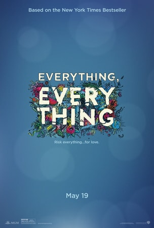 Everything Everything poster - logo surrounded in flowers