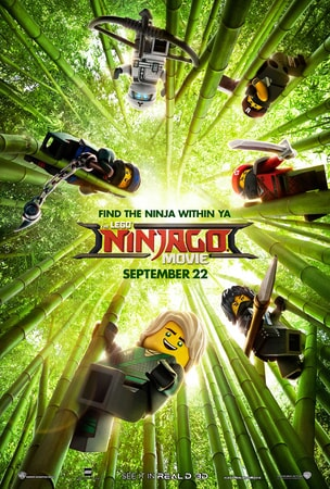 LEGO NINJAGO characters in a bamboo forest