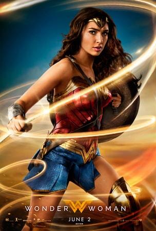 Wonder Woman wielding her lasso of truth