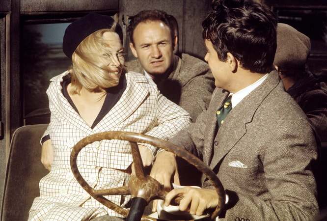 faye dunaway, gene hackman, warren beatty in bonnie and clyde