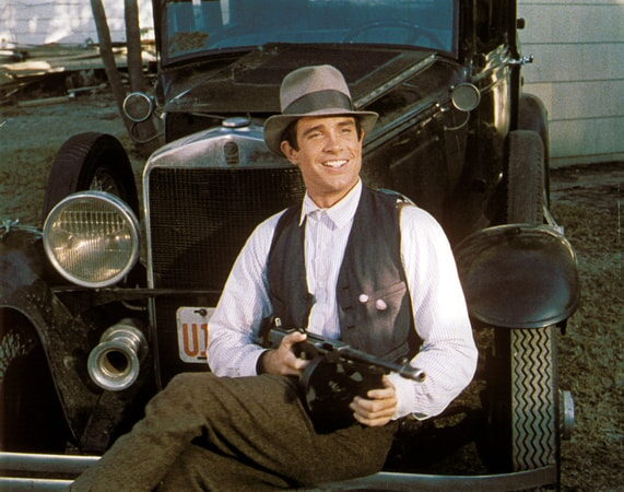 warren beatty is clyde barrow in bonnie and clyde