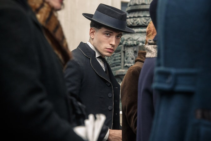 "EZRA MILLER as Credence Barebone in Warner Bros. Pictures' fantasy adventure ""FANTASTIC BEASTS AND WHERE TO FIND THEM,"" a Warner Bros. Pictures release."
