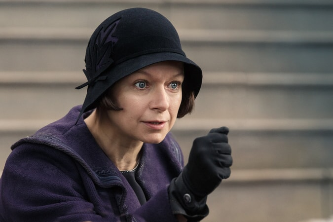 "SAMANTHA MORTON as Mary Lou Barebone in Warner Bros. Pictures' fantasy adventure ""FANTASTIC BEASTS AND WHERE TO FIND THEM,"" a Warner Bros. Pictures release."