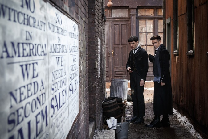 "EZRA MILLER as Credence and COLIN FARRELL as Graves in Warner Bros. Pictures' fantasy adventure ""FANTASTIC BEASTS AND WHERE TO FIND THEM,"" a Warner Bros. Pictures release."