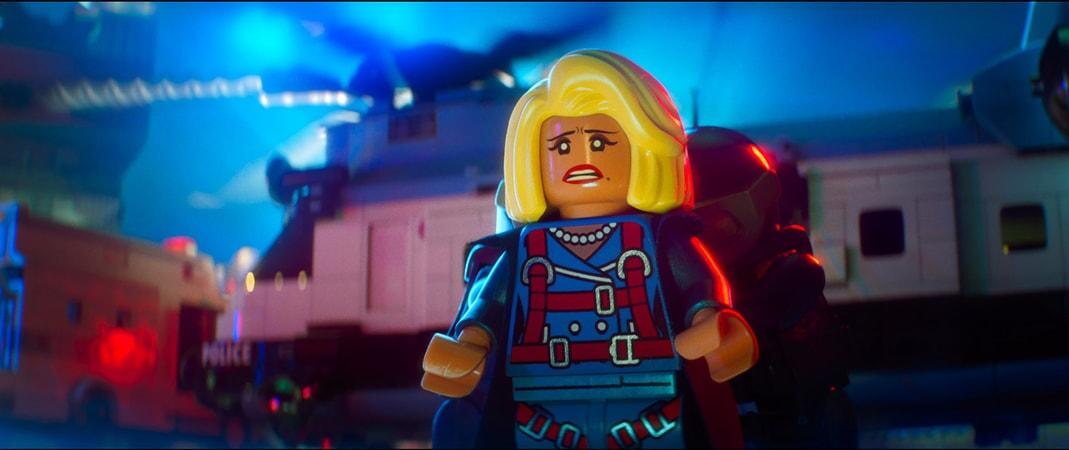"The Joker (ZACH GALIFIANAKIS) and Harley Quinn (JENNY SLATE) in the animated adventure ""The LEGO Batman Movie,"""