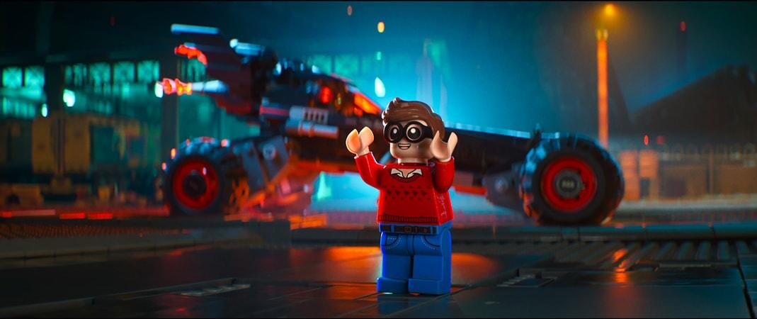 "LEGO® minifigure Dick Grayson (MICHAEL CERA) in the animated adventure ""The LEGO Batman Movie,"""