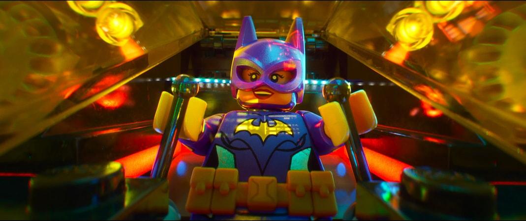 "LEGO® minifigure Batgirl (ROSARIO DAWSON) in the animated adventure ""The LEGO Batman Movie,"""