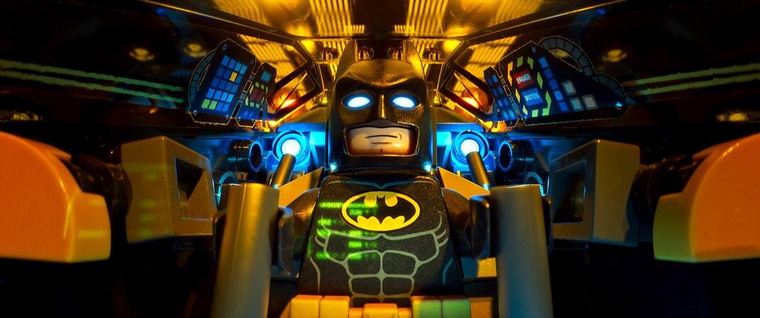 "LEGO® minifigure Batman (WILL ARNETT) in the animated adventure ""The LEGO Batman Movie,"""