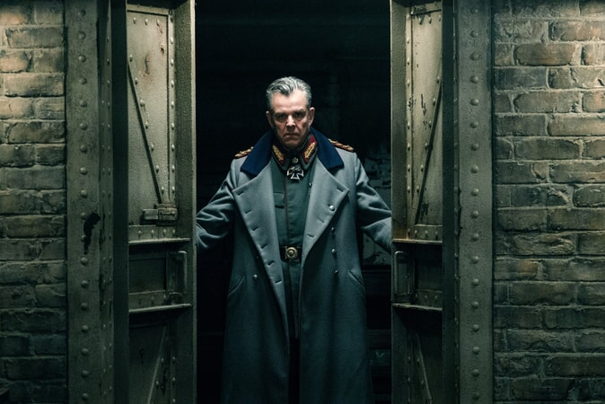 "DANNY HUSTON as Ludendorff in the action adventure ""WONDER WOMAN,"" a Warner Bros. Pictures release."